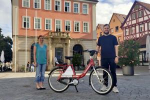 Kommunenrad auf dem Marktplatz in Schorndorf