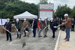 Spatenstich für das neue Feuerwehrhaus mit Verwaltungsstelle in Oberberken