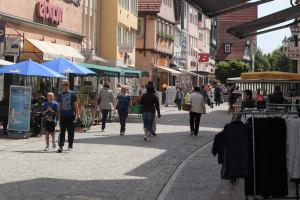 Blick in die Johann-Philipp-Palm-Straße