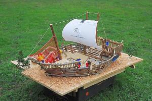 Ein Modell (Maßstab 1:100) des Piratenschiffs
