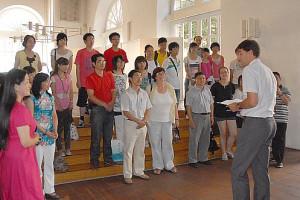 OB mit Schülergruppe aus China
