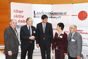 OB Klopfer und Mitglieder des geschäftsführenden Vorstandes des Landesseniorenrates