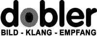 Logo der Firma Dobler in schwarzer Schrift mit weißem Hintergrund