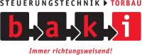 Logo der Firma Baki in den Farben schwarz und rot mit weißem Hintergrund