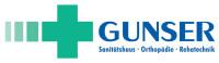 Logo der Firma Gunser in blauer und grüner Schrift mit weißem Hintergrund