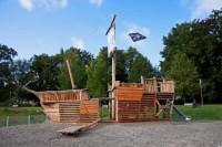 Ein Piratenschiff beim Schorndorfer Parksee