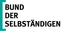Logo des Bund der Selbständigen in schwarzer Schrift mit weißem Hintergrund