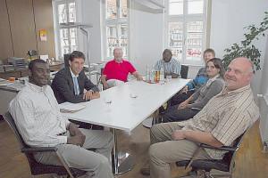 Gäste bei OB Klopfer im Rathaus