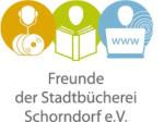 Logo der Freunde der Stadtbücherei Schorndorf e.V. mit weißem Hintergrund