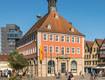 Blick auf das Schorndorfer Rathaus am Marktplatz