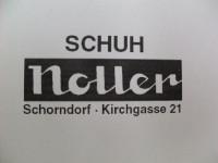 Logo und Adresse Schuh Noller