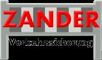 Logo von Zander Verkehrssicherung in roter und schwarzer Schrift