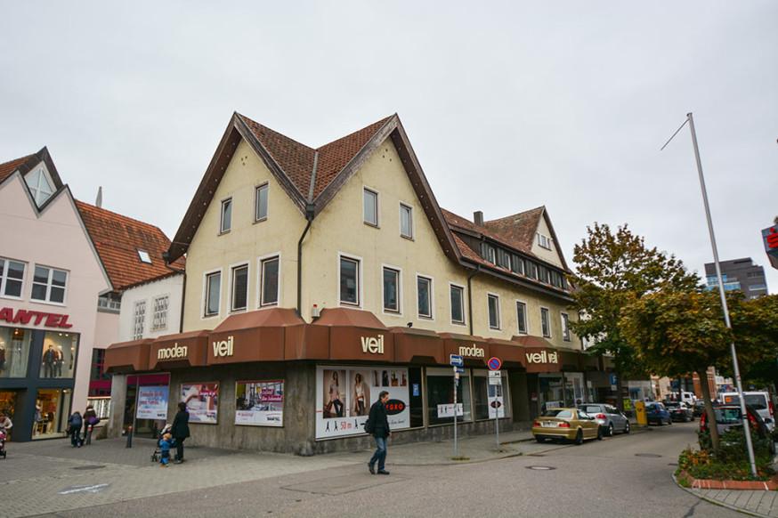 Das ehemalige Modehaus Veil in der Schulstraße
