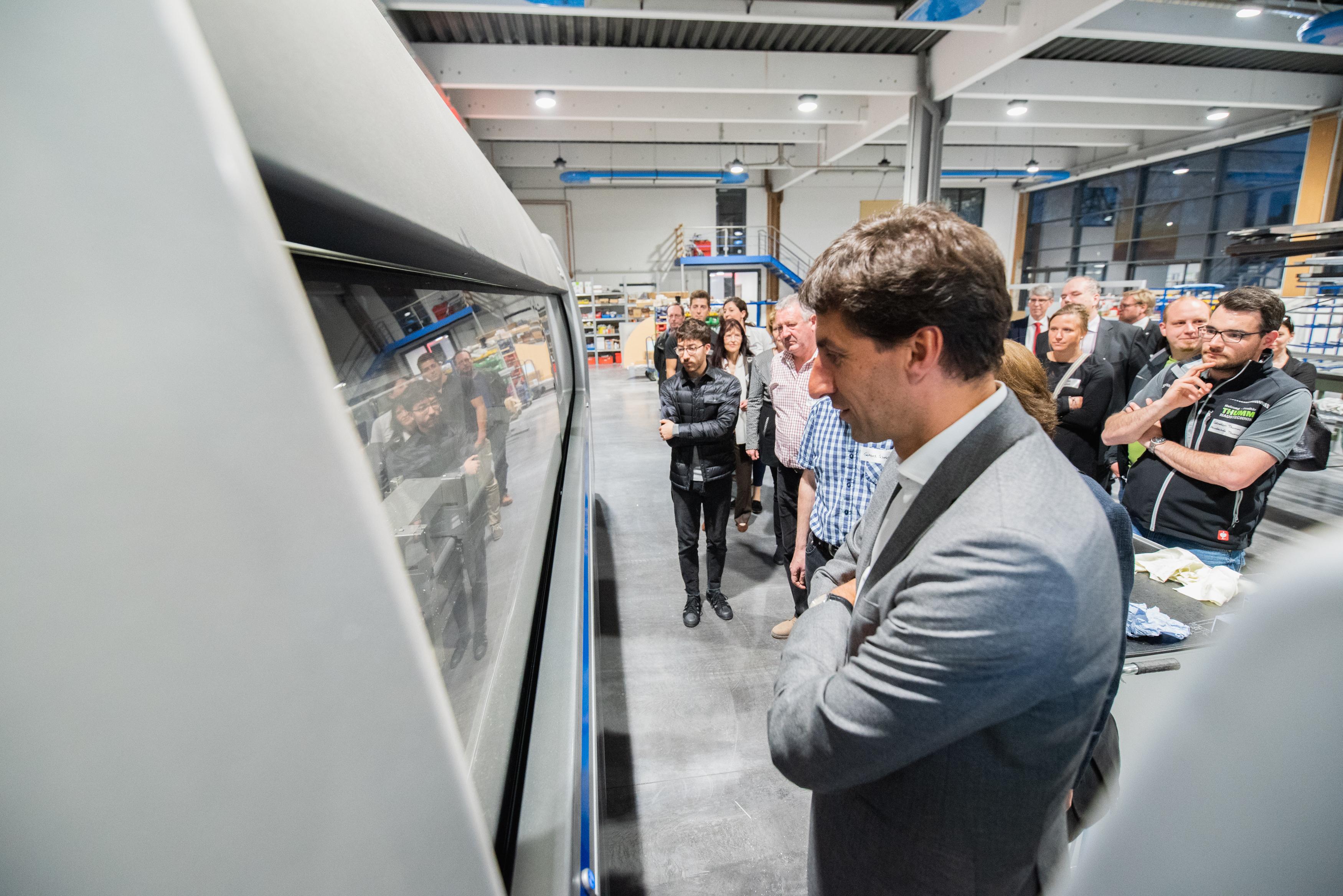 Unternehmens-Einblicke 16.04.2018 bei Metallbau Zenn - Betriebsbesichtigung der Firma Zenn
