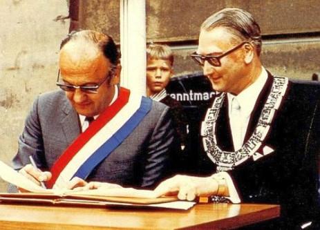 Bürgermeister Jean Montalat und OB Rudolf Bayler