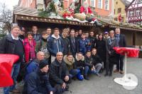 Die französischen Auszubildenden waren zu Besuch in Schorndorf.