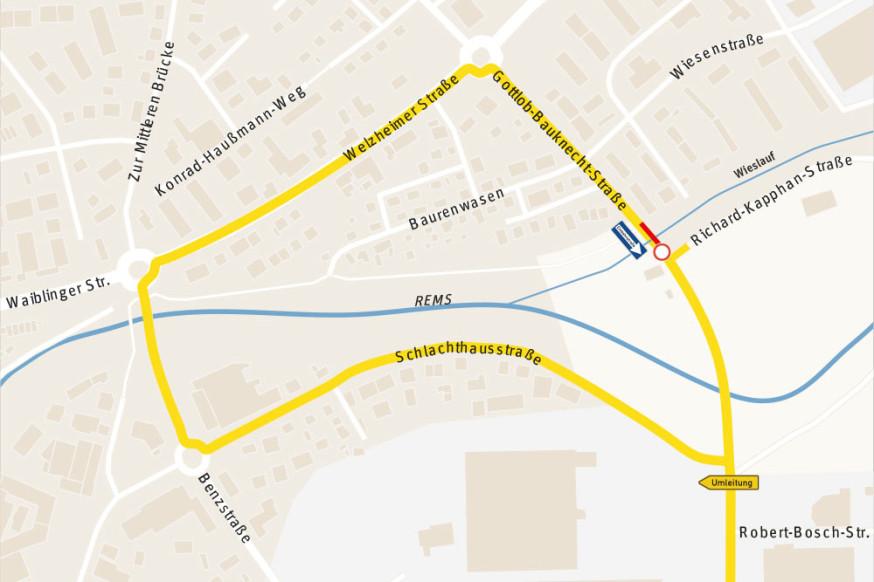 Umleitungsstrecke Gottlob-Bauknecht-Straße