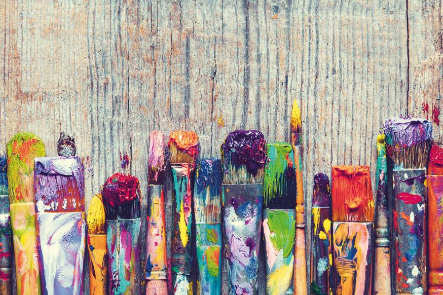 An die Pinsel und los geht's: Der Kreativität sind keine Grenzen gesetzt.