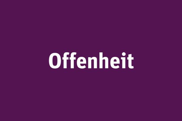 Offenheit