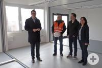 Ein Blick in eines der neuen Klassenzimmer – der Innenausbau steht noch an.