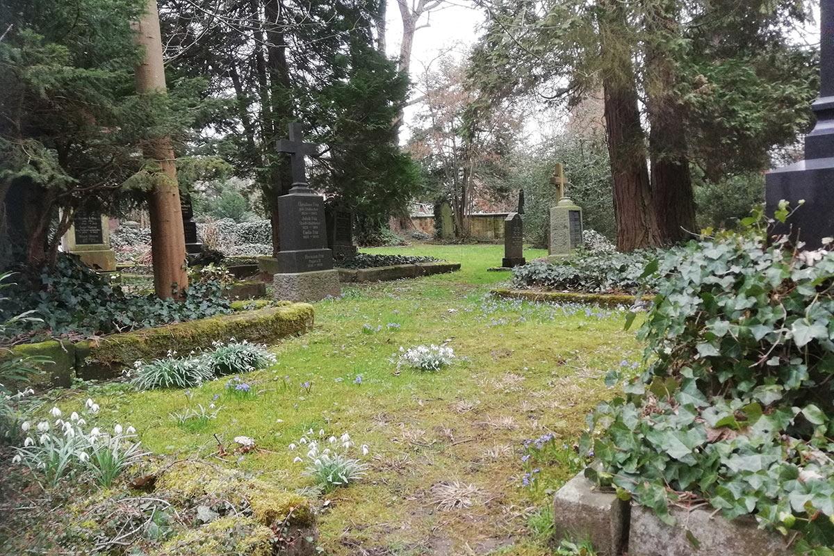 Friedvoller Ort: der Alte Friedhof.