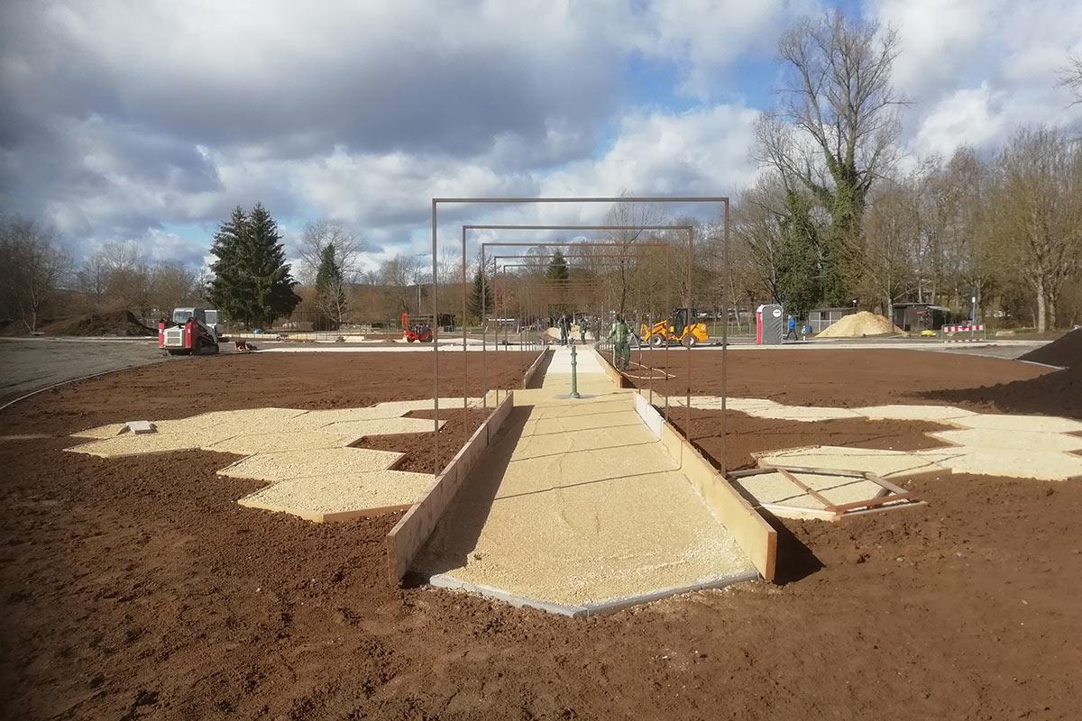 Der Bürgergarten entsteht.