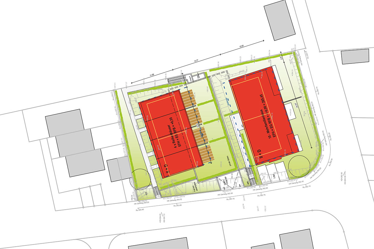 Viel Platz für Familien und tolle Lage am Ortsrand: Das Neubauprojekt der Stadtbau GmbH im Richterweg.