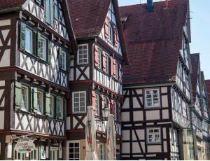 Fachwerkhäuser in der Schorndorfer Altstadt