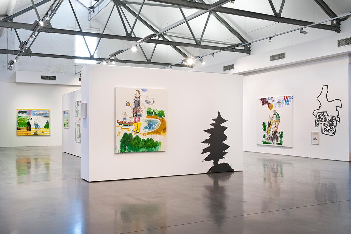 Ausstellungsraum in der Q Galerie für Kunst