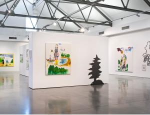 Gemälde im Ausstellungsraum in der Q Galerie für Kunst