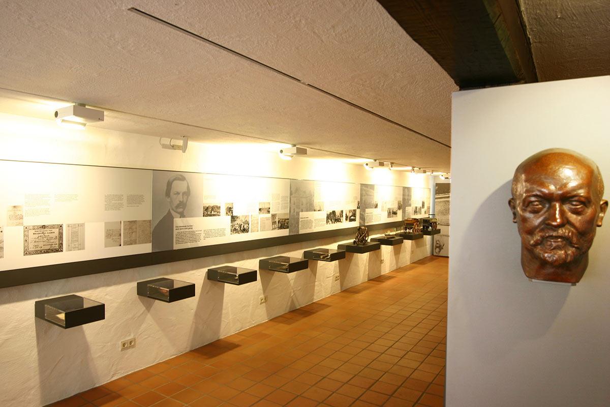 Ausstellungsraum im Gottlieb Daimler Geburtshaus