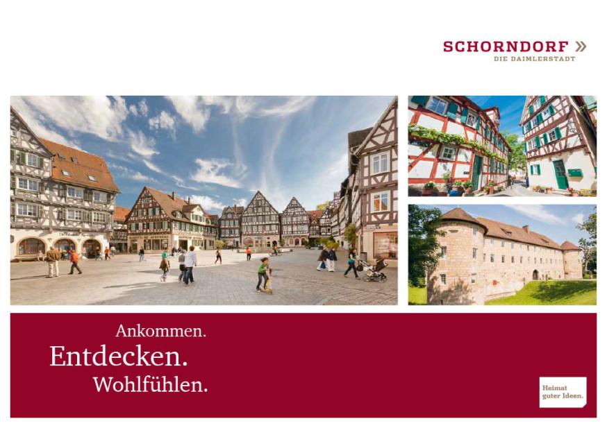 Titelseite der Schorndorfer Imagebroschüre