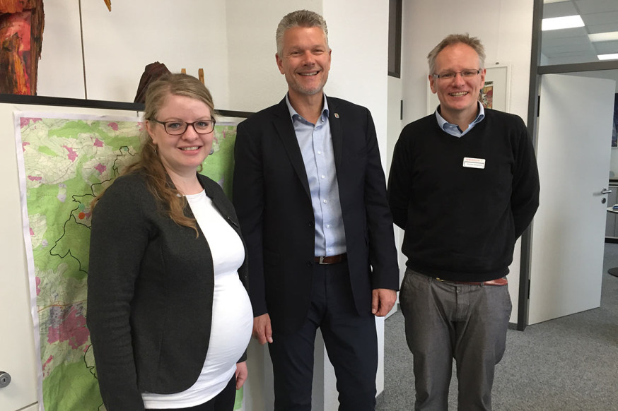 Jessica Heiss, Edgar Hemmerich und Christian Bergmann.