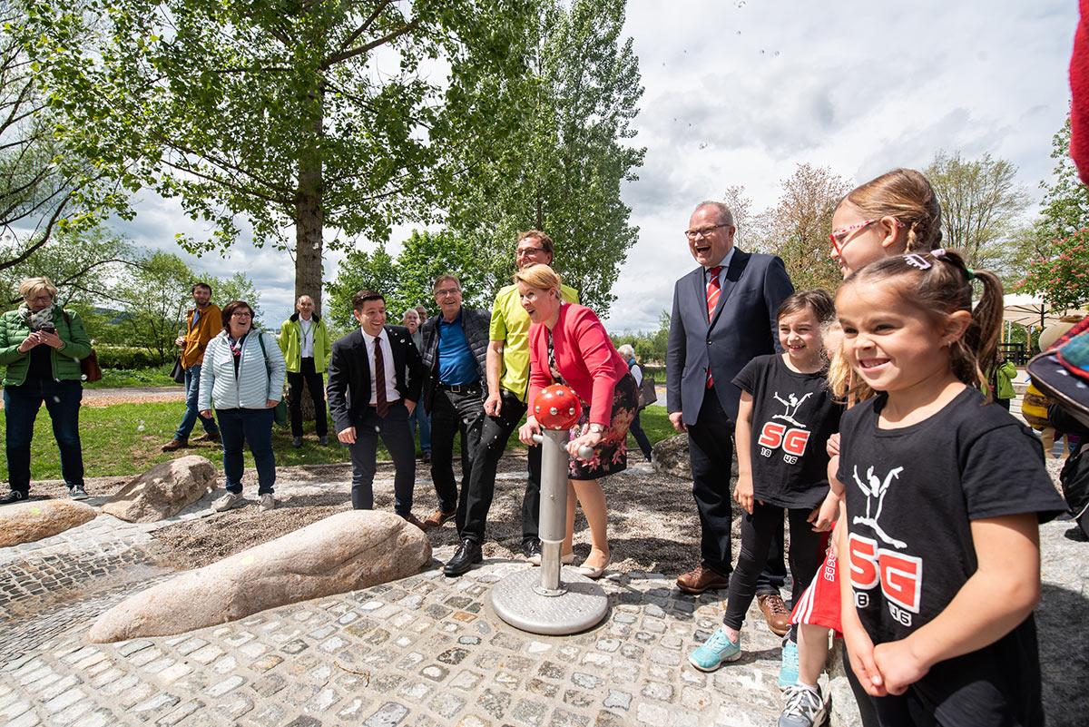 Einweihung des neuen Wasserspielplatzes im Sportpark Rems
