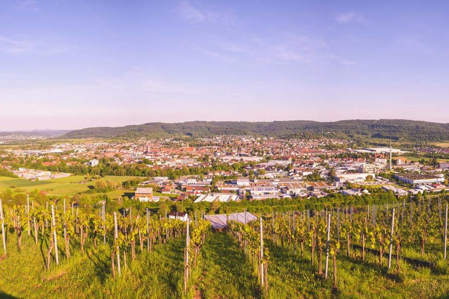 Aussicht vom Grafenberg auf Schorndorf