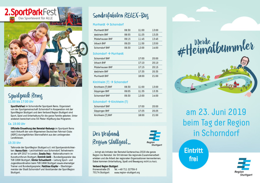 Tag der Region in Schorndorf am 23. Juni 2019