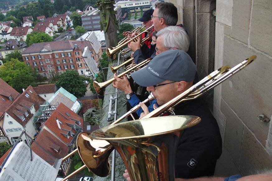 Klänge über den Dächern der Stadt: die Turmbläser.