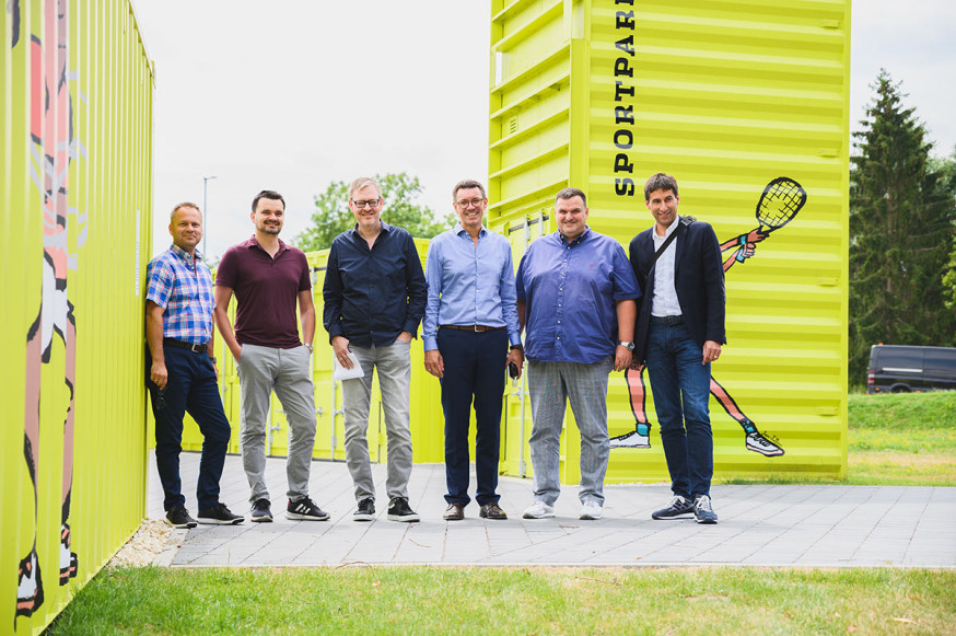 Gemeinsam ein tolles Projekt im Sportpark Rems verwirklicht.