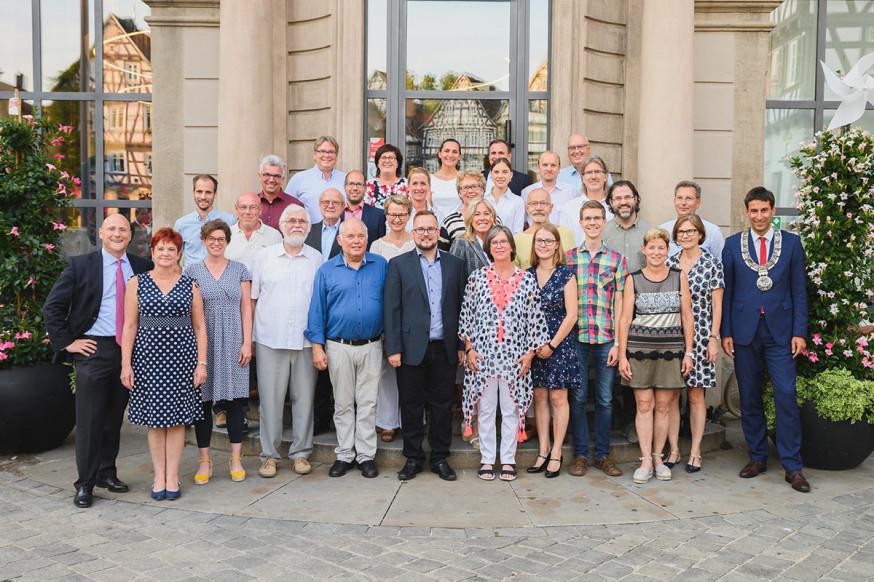 Der neue Schorndorfer Gemeinderat (auf dem Bild fehlt Peter Erdmann).