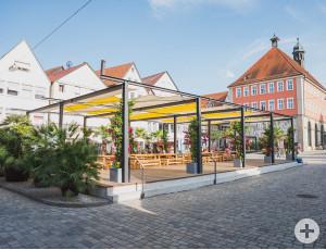 Der Kulturtisch auf dem Unteren Marktplatz.