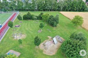 Der Spielplatz Lauswiesen in Haubersbronn.