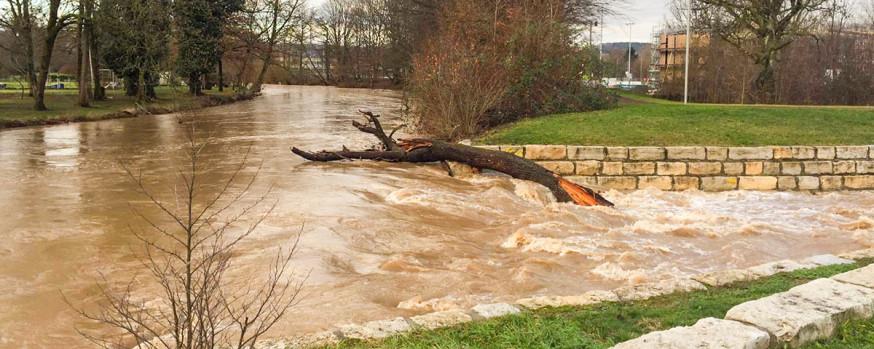 Hochwasser an der Rems