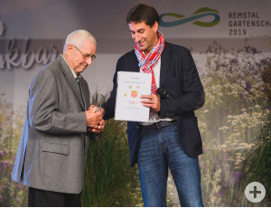 Dieter Brecht (l.) wurde für sein Lebenswerk als Engagierter des Jahres 2019 ausgezeichnet.