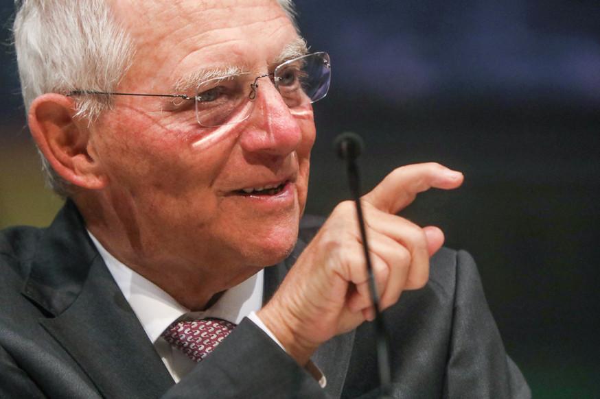 Wolfgang Schäuble war zu Gast in der Barbara-Künkelin-Halle.