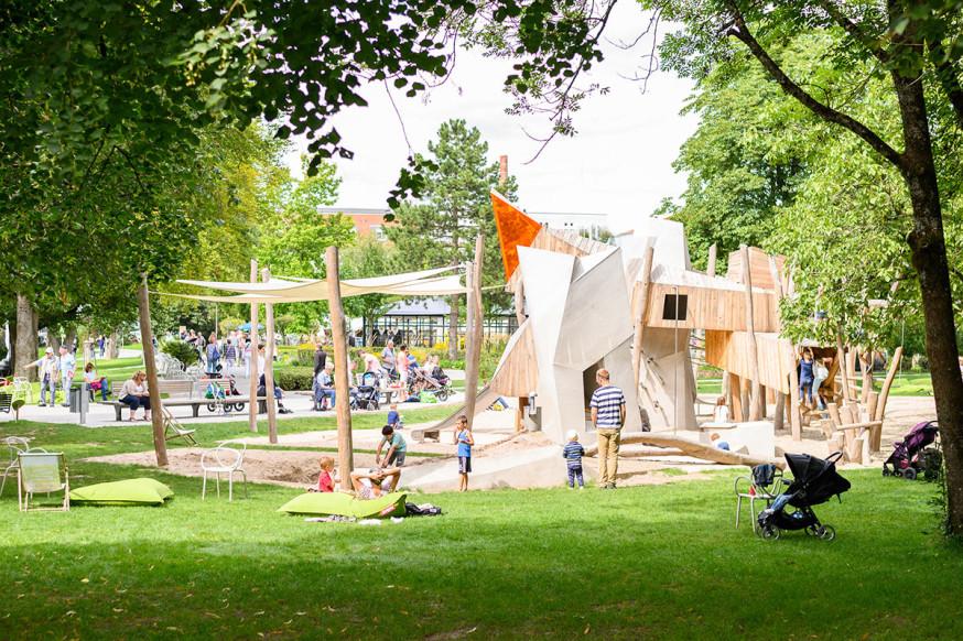 """Der neue """"Spielplatz am Schloss"""" entwickelte sich zum echten Höhepunkt."""