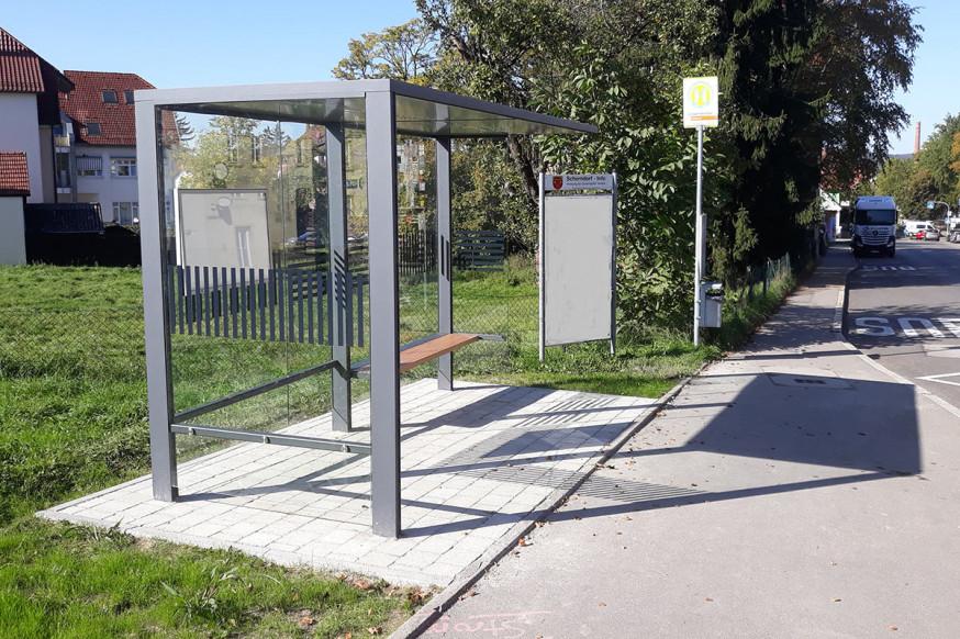 Die Haltestelle Löwenkeller in der Göppinger Straße.