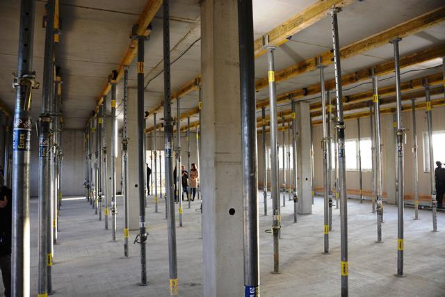 Hier entstehen bald Großraumbüros für die Mitarbeiterinnen und Mitarbeiter.