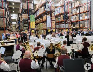 Die Musik beim Einweihungsfest kam vom Musikverein Concordia e.V Schorndorf-Weiler.