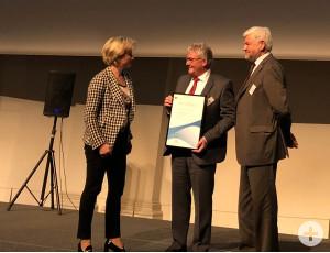 Felix Liehr bei der Verleihung des Landes-Innovationspreises.