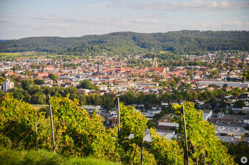 Blick auf Schorndorf vom Grafenberg.